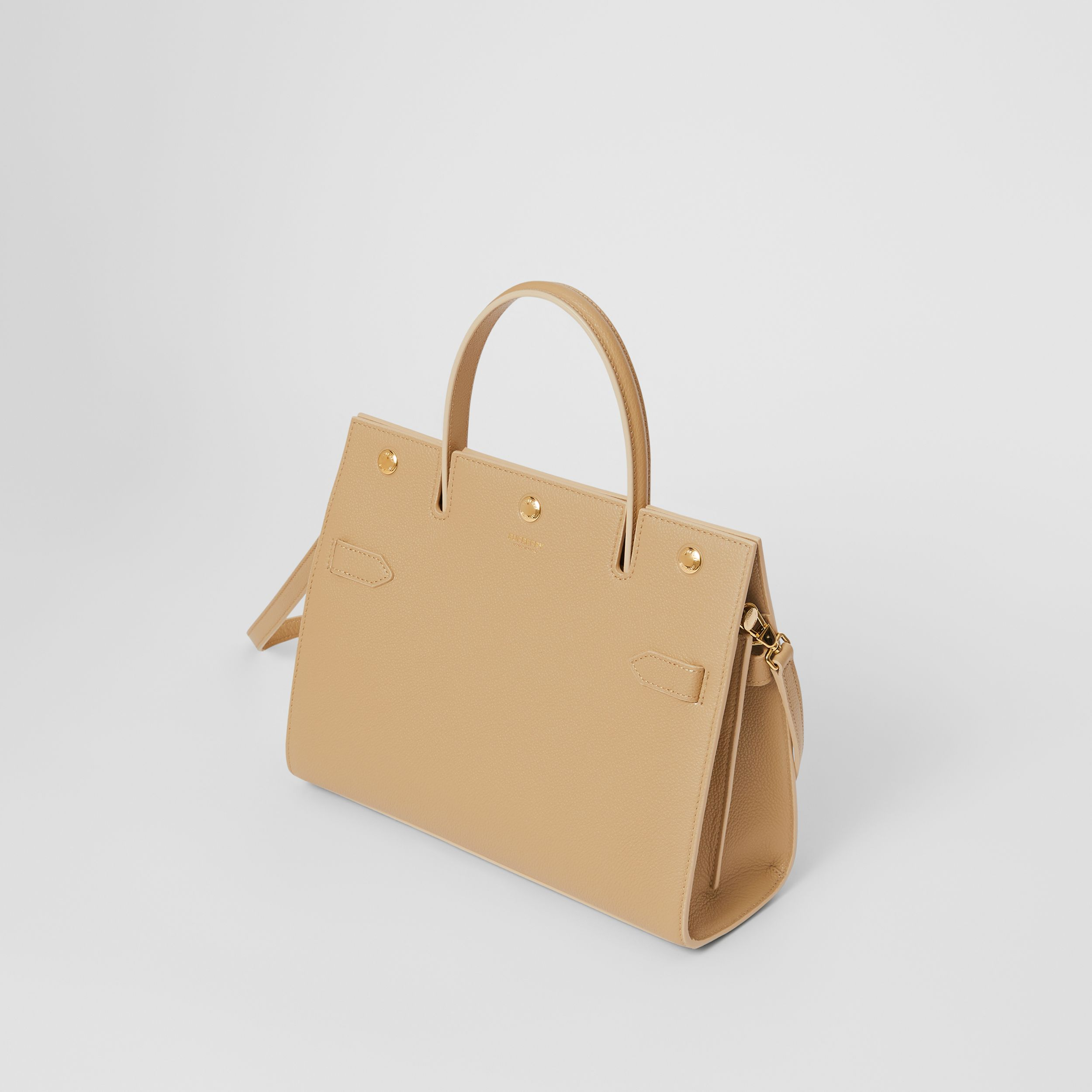 Small Leather Title Bag in Honey - Women | Burberry - 4