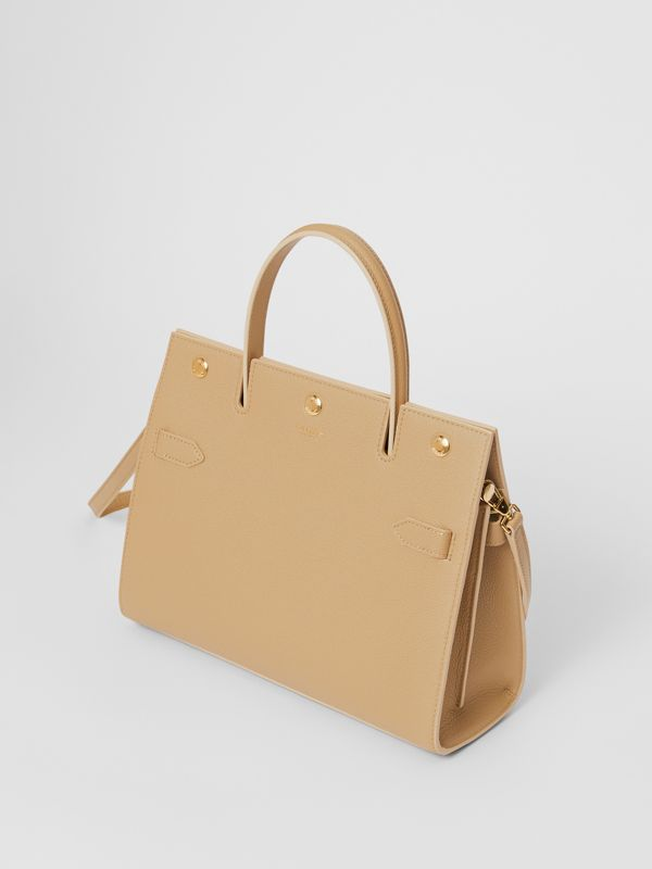 Small Leather Title Bag in Honey - Women   Burberry - cell image 3