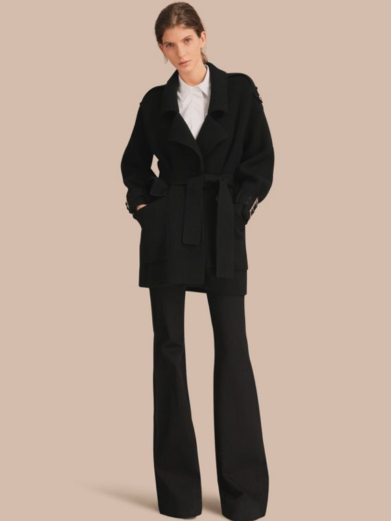 Knitted Wool Cashmere Blend Trench Coat