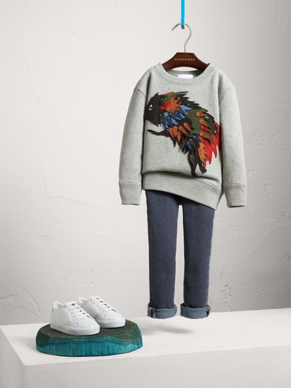 Beasts Appliqué Cotton Jersey Sweatshirt - Boy | Burberry Singapore