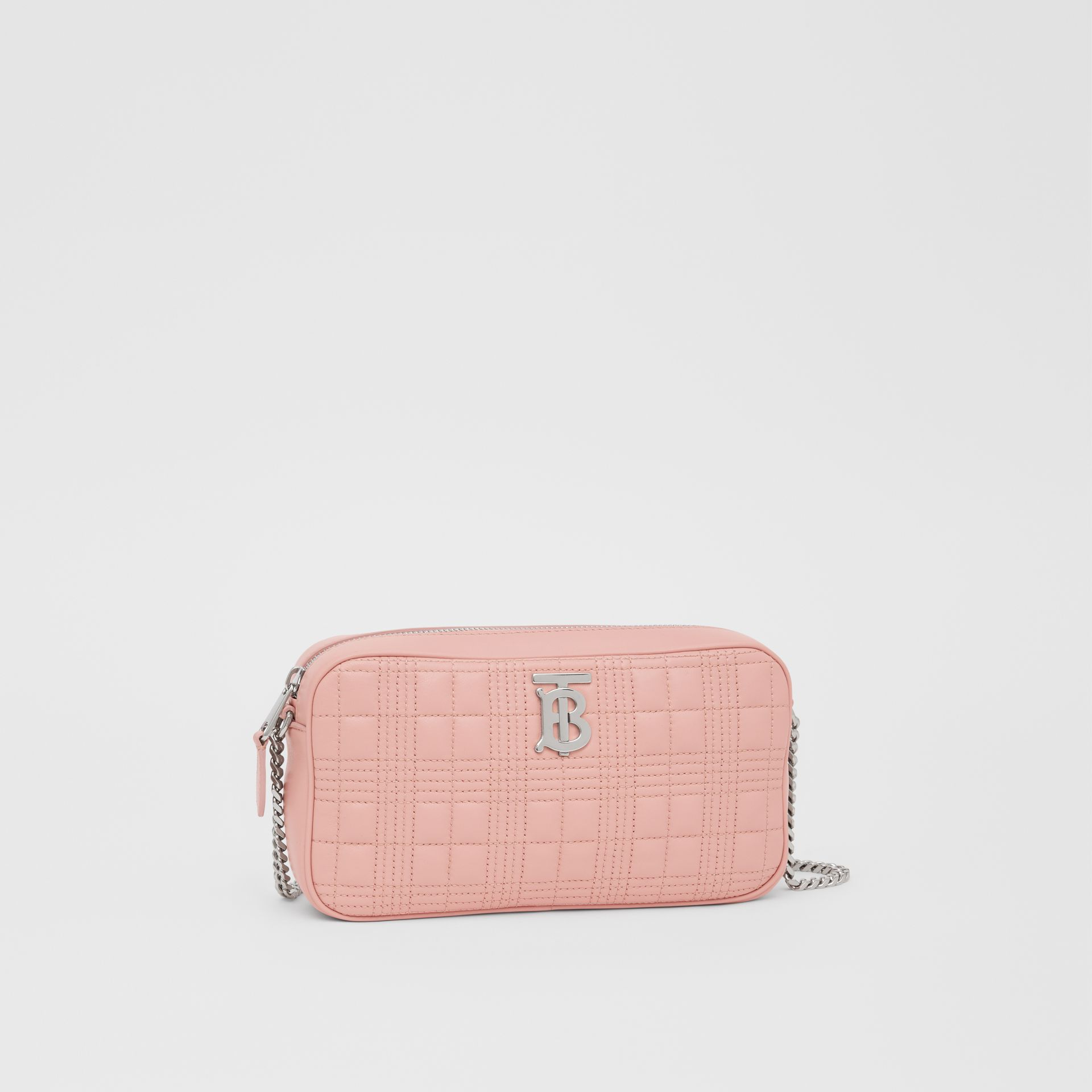 Quilted Lambskin Camera Bag in Blush Pink - Women | Burberry - gallery image 4