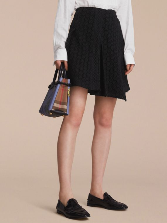 Mixed Lace Pleated Skirt - Women | Burberry Australia