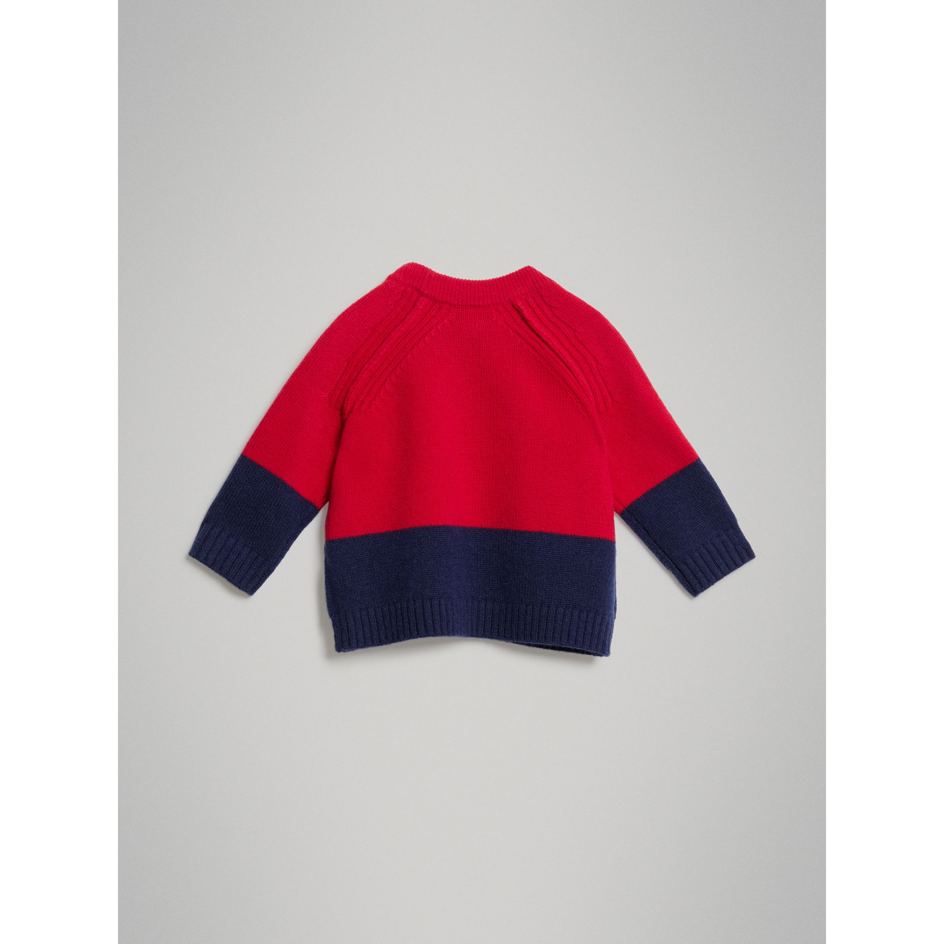 Logo Intarsia Cashmere Sweater in Bright Red - Children | Burberry United Kingdom - gallery image 3