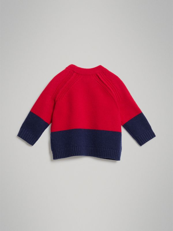 Logo Intarsia Cashmere Sweater in Bright Red - Children | Burberry - cell image 3