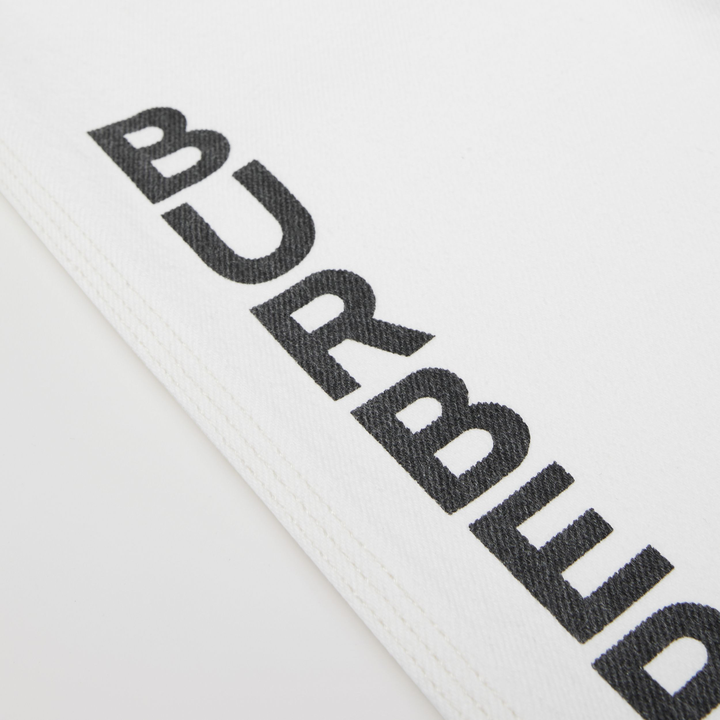 Logo Print Japanese Denim Jeans in Natural White | Burberry - 2