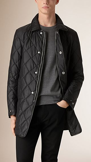 Lambskin Trim Quilted Coat