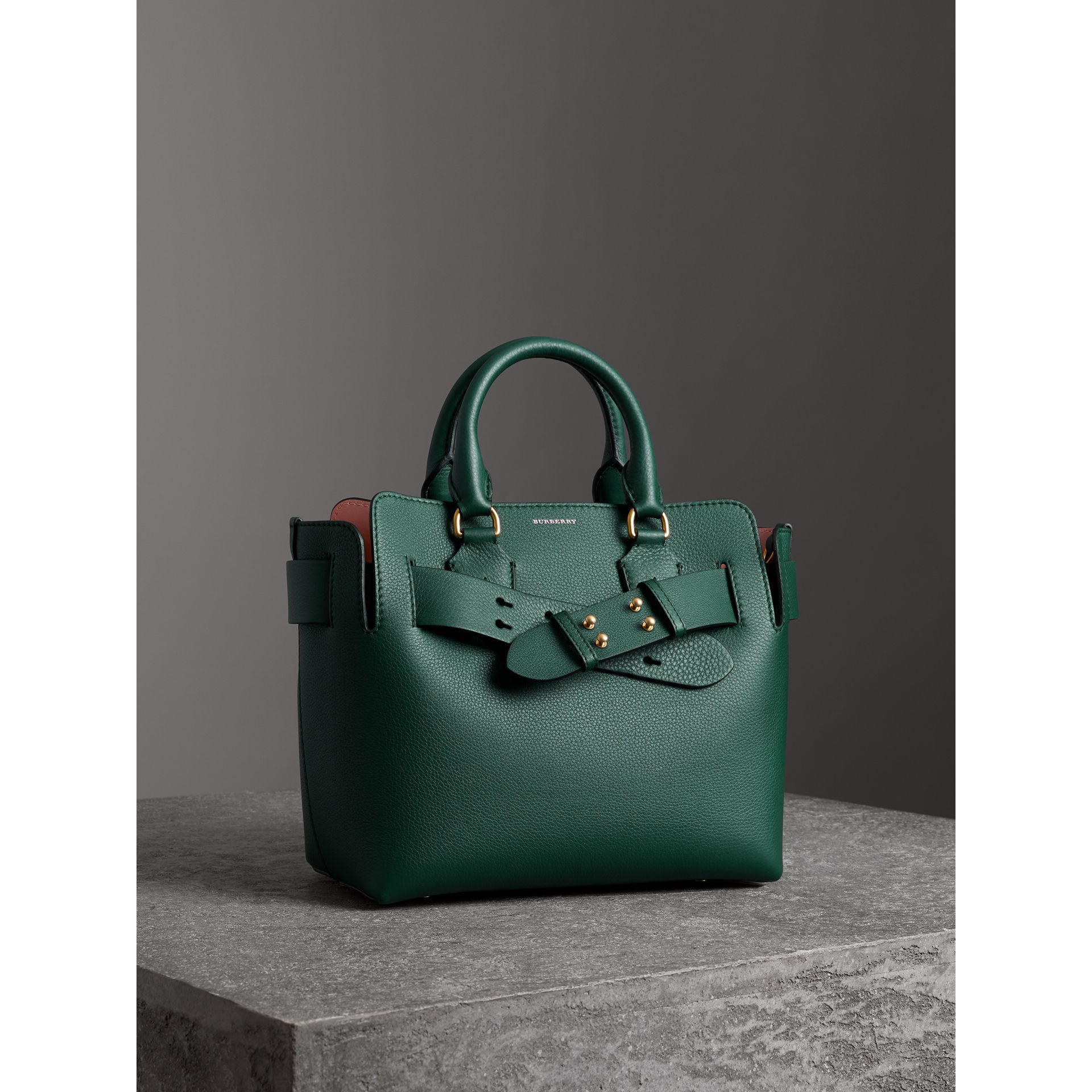 The Small Leather Belt Bag in Dark Cyan - Women | Burberry Australia - gallery image 7