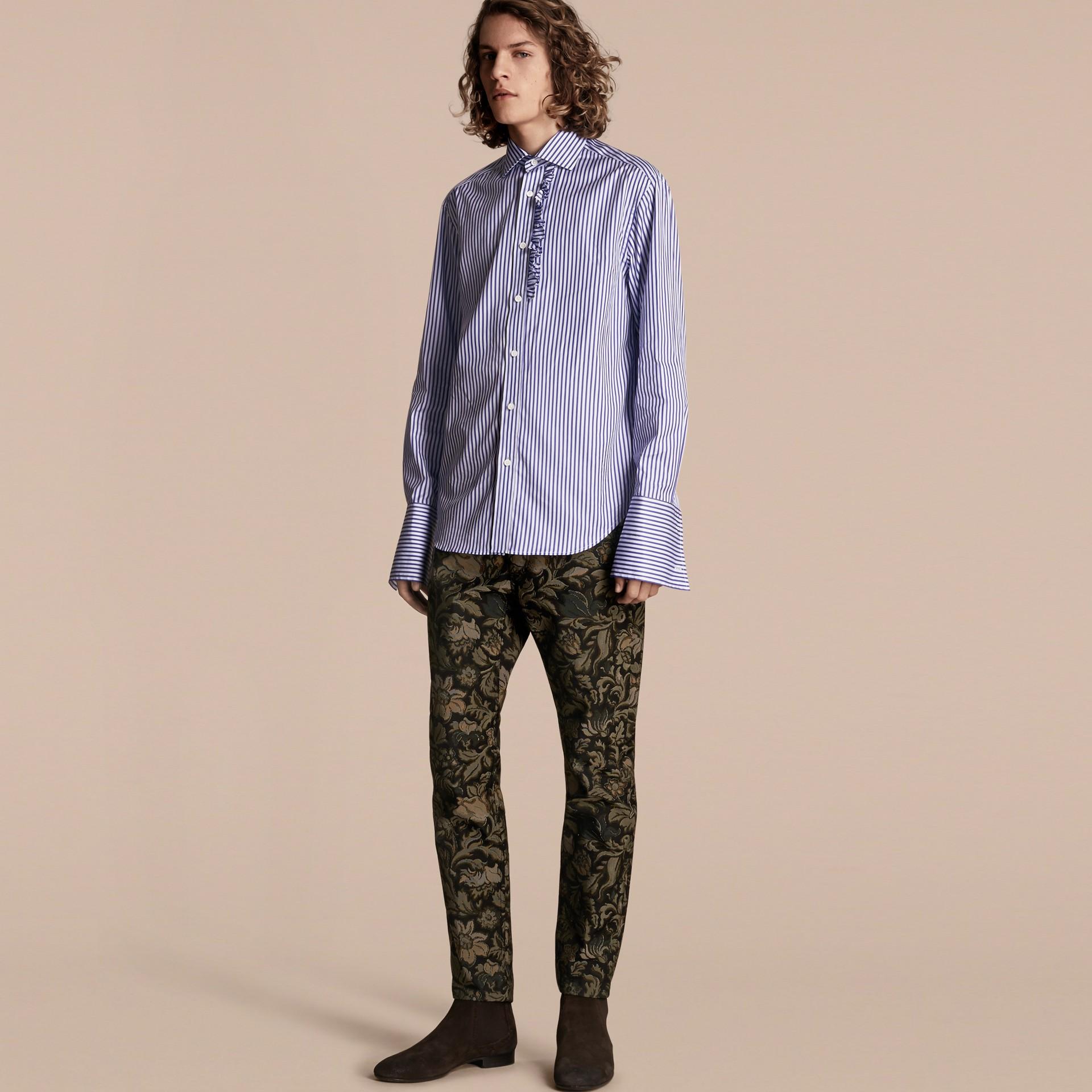 Sálvia Calças jeans com estampa floral em jacquard e corte slim Sálvia - galeria de imagens 7