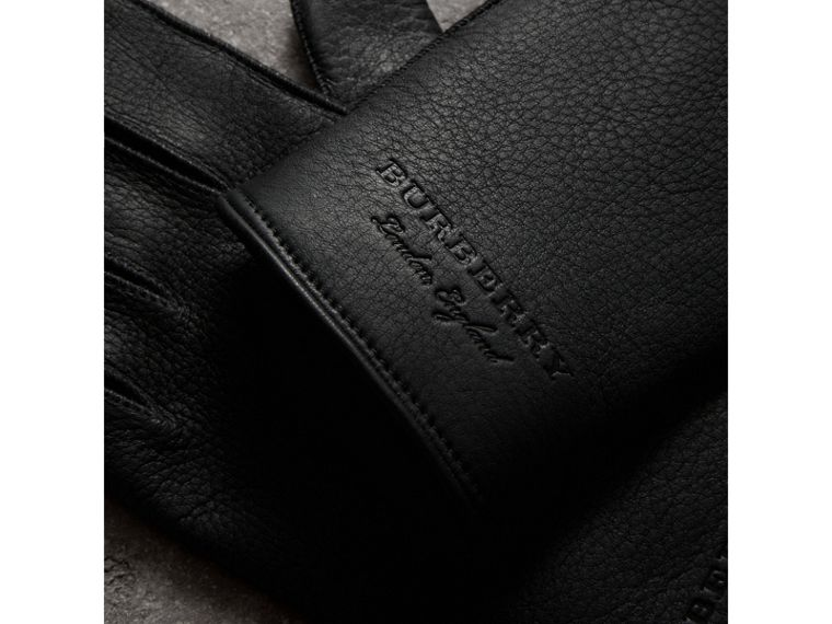 Deerskin Gloves in Black | Burberry United Kingdom - cell image 1