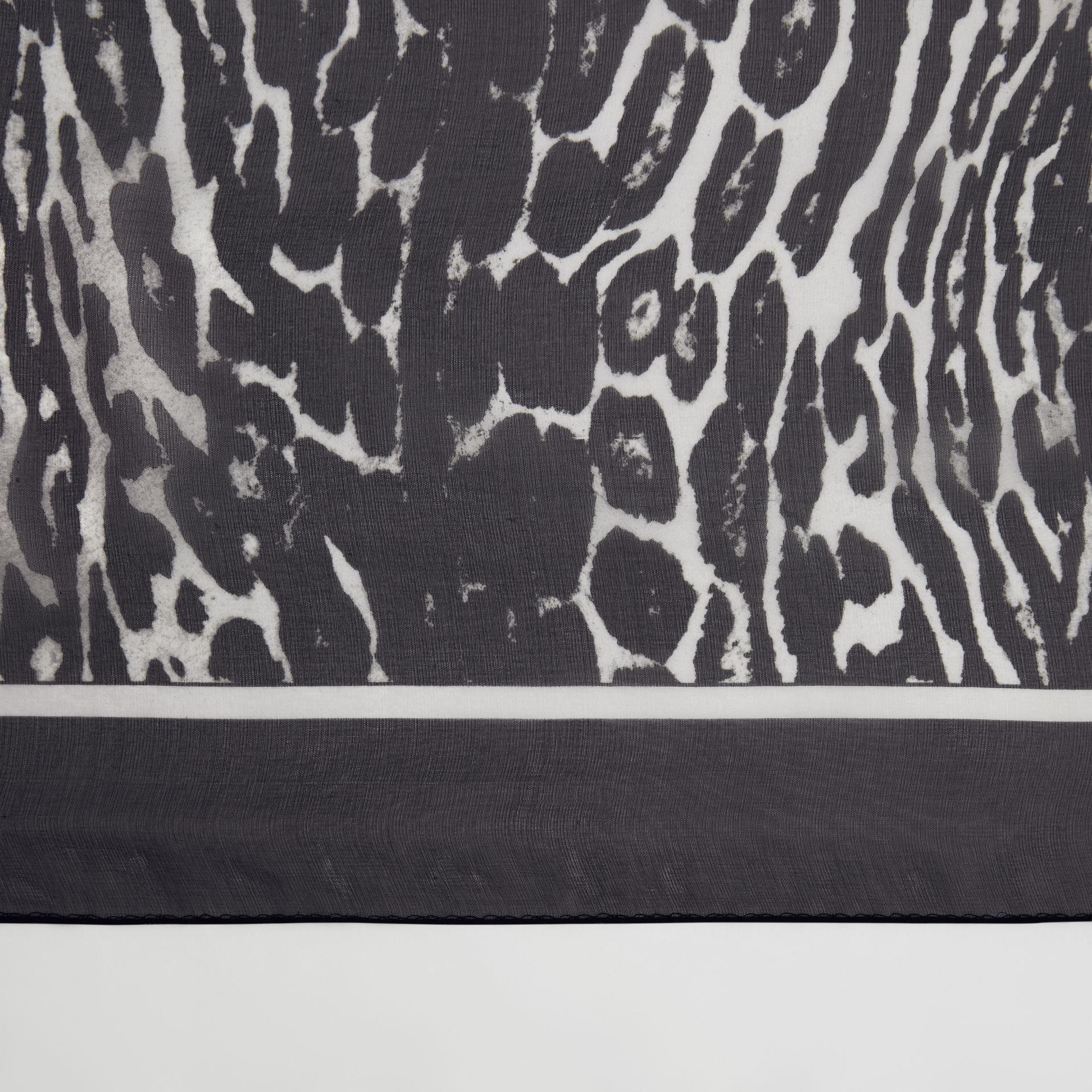 Angel and Leopard Print Silk Scarf in Black | Burberry - gallery image 1