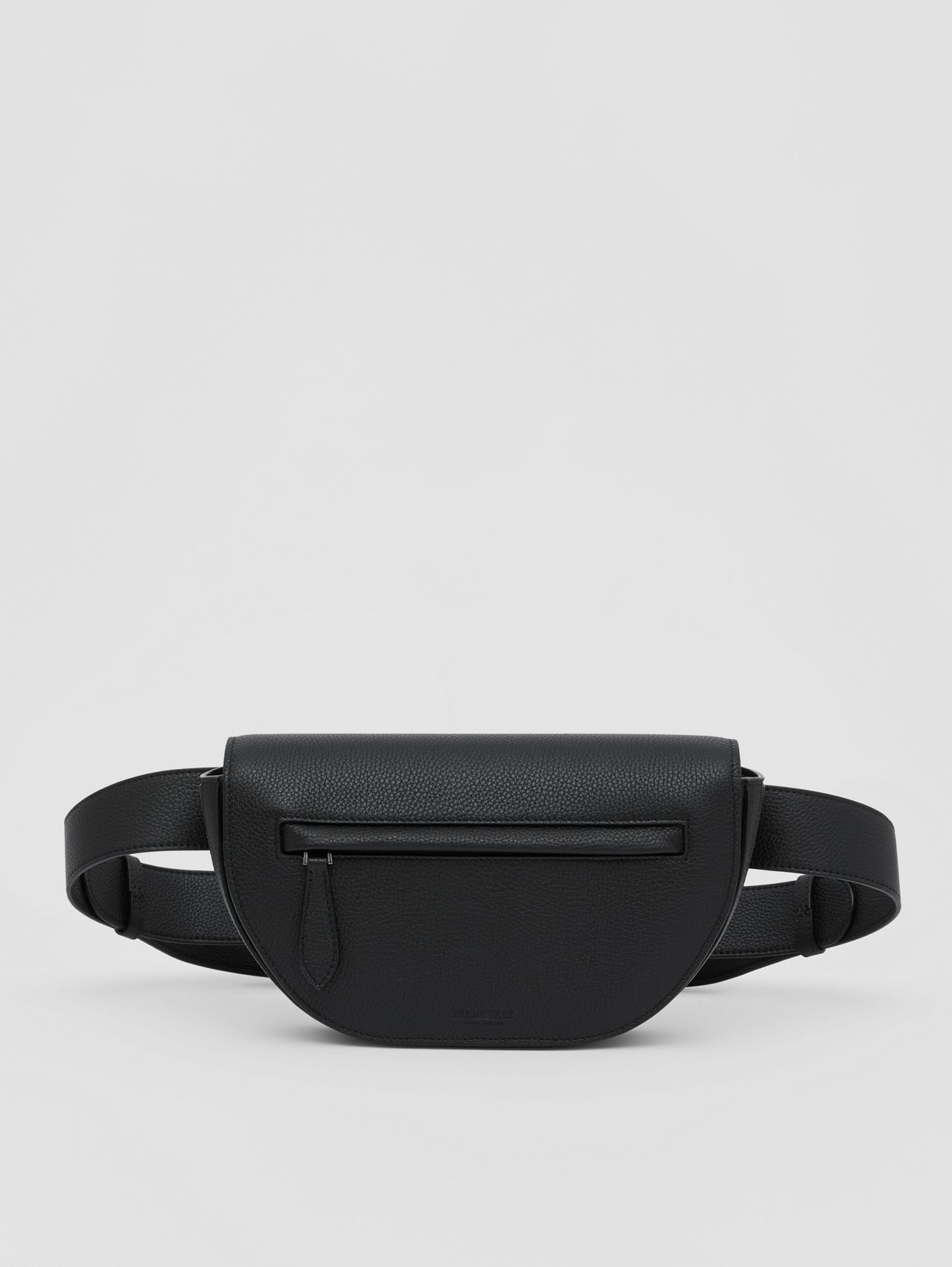 Grainy Leather Olympia Bum Bag in Black