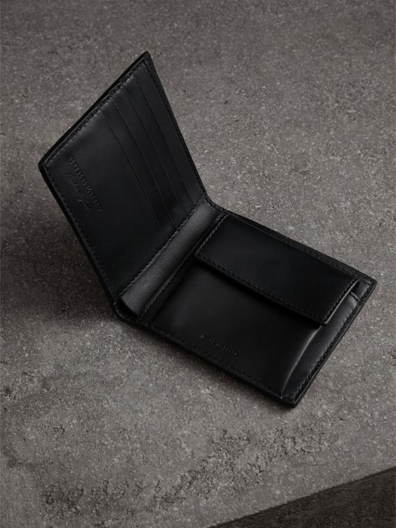 Haymarket Check International Bifold Coin Wallet in Black - Men | Burberry - cell image 3
