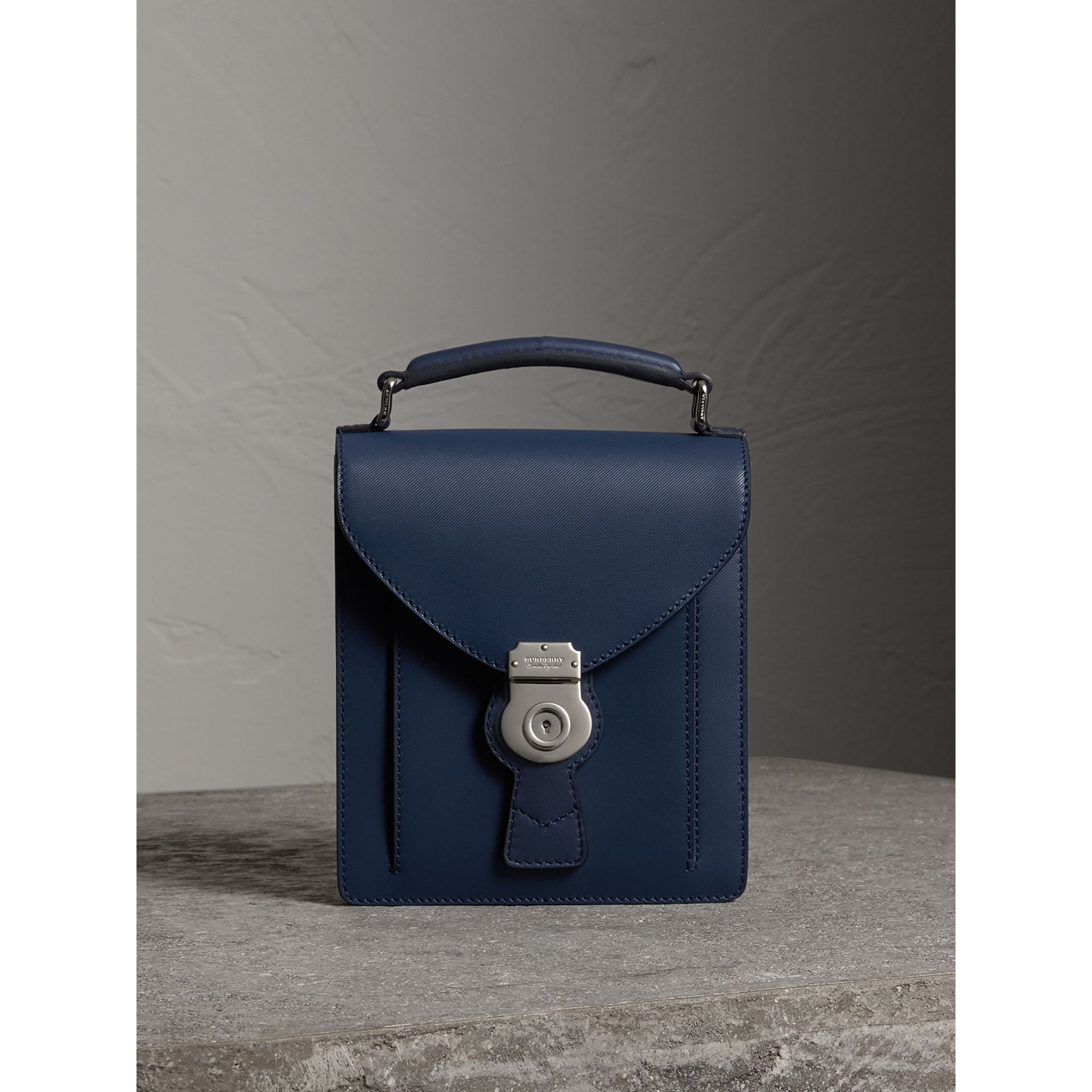 The Small DK88 Satchel in Ink Blue - Men | Burberry - gallery image 0