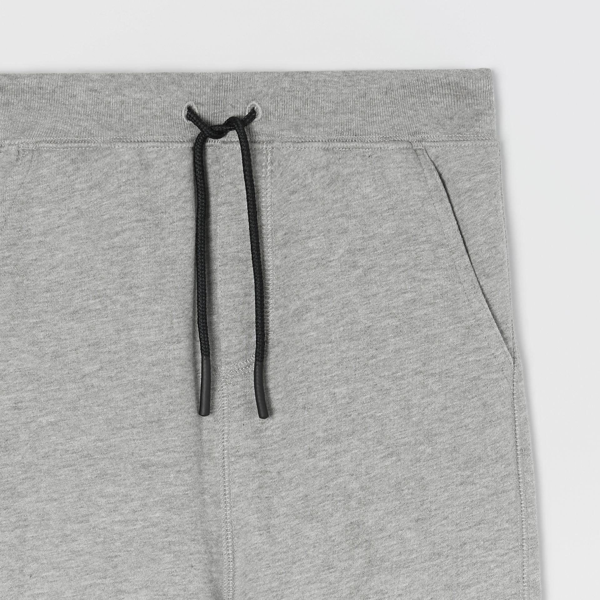 Logo Detail Cotton Trackpants in Grey Melange | Burberry Australia - gallery image 4