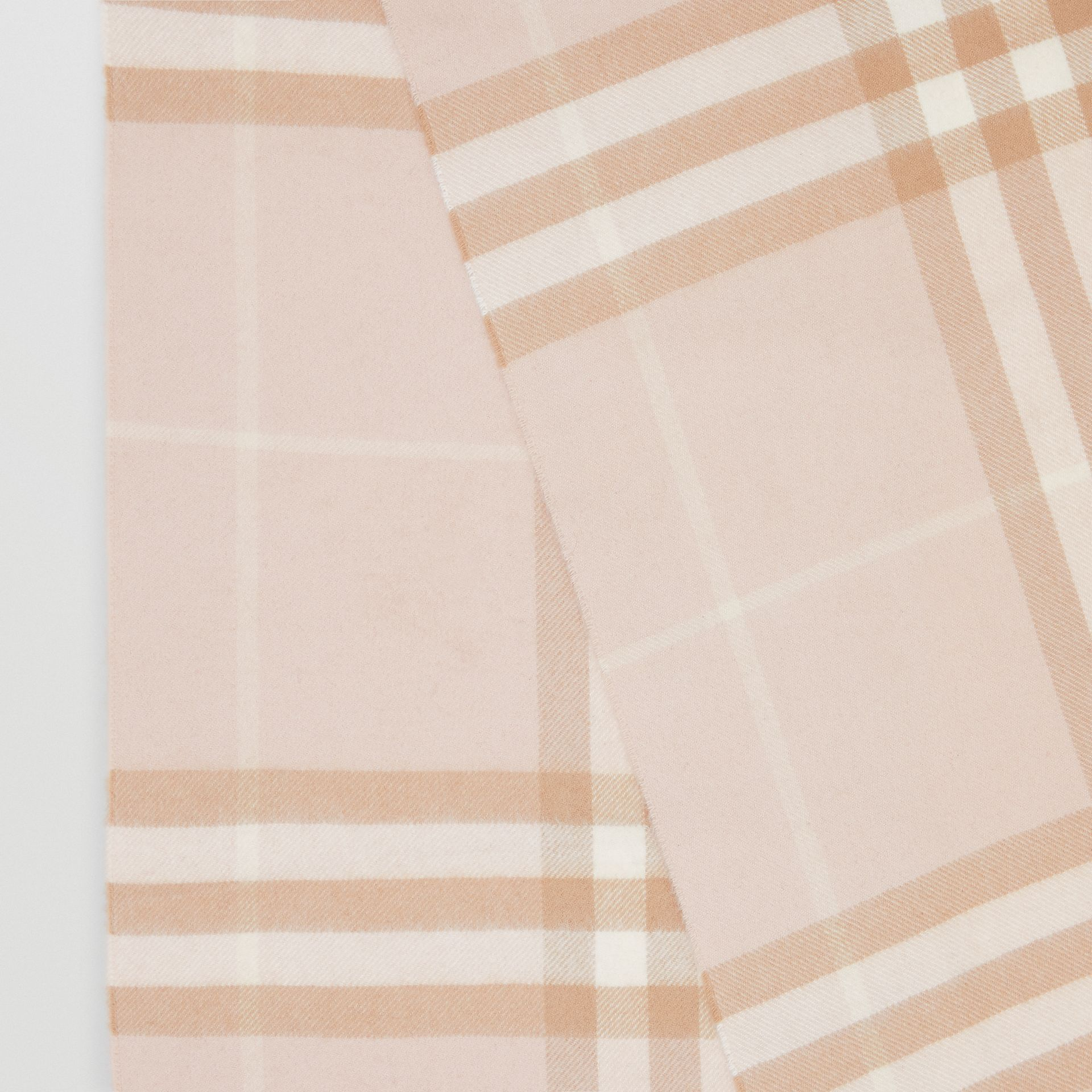 The Classic Check Cashmere Scarf in Blush | Burberry - gallery image 1