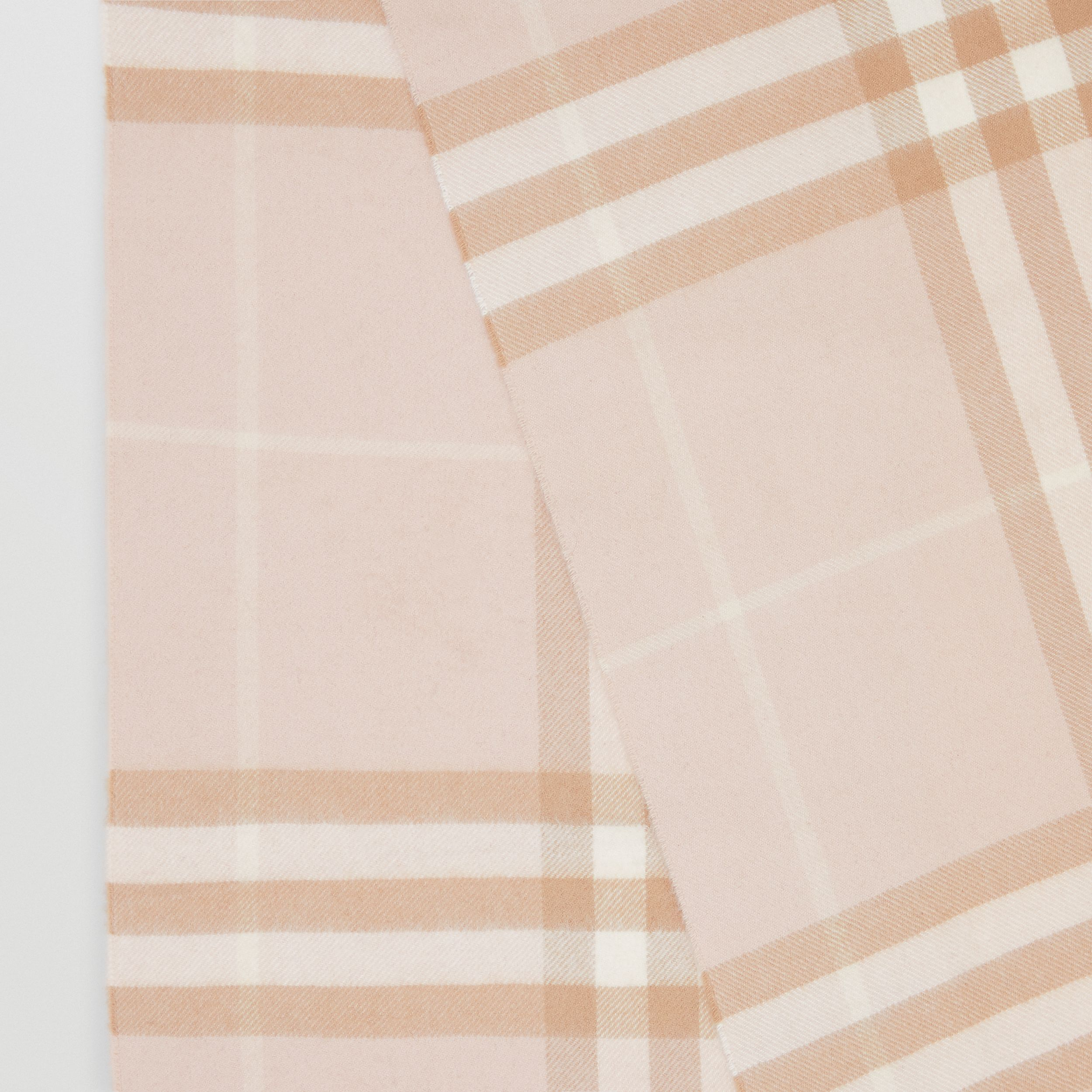 The Classic Check Cashmere Scarf in Blush | Burberry Australia - 2