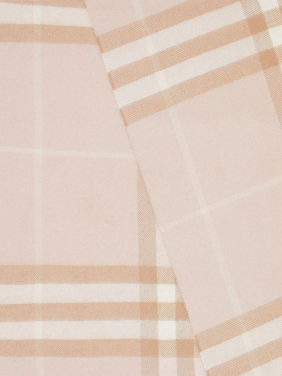 The Classic Check Cashmere Scarf in Blush | Burberry - cell image 1