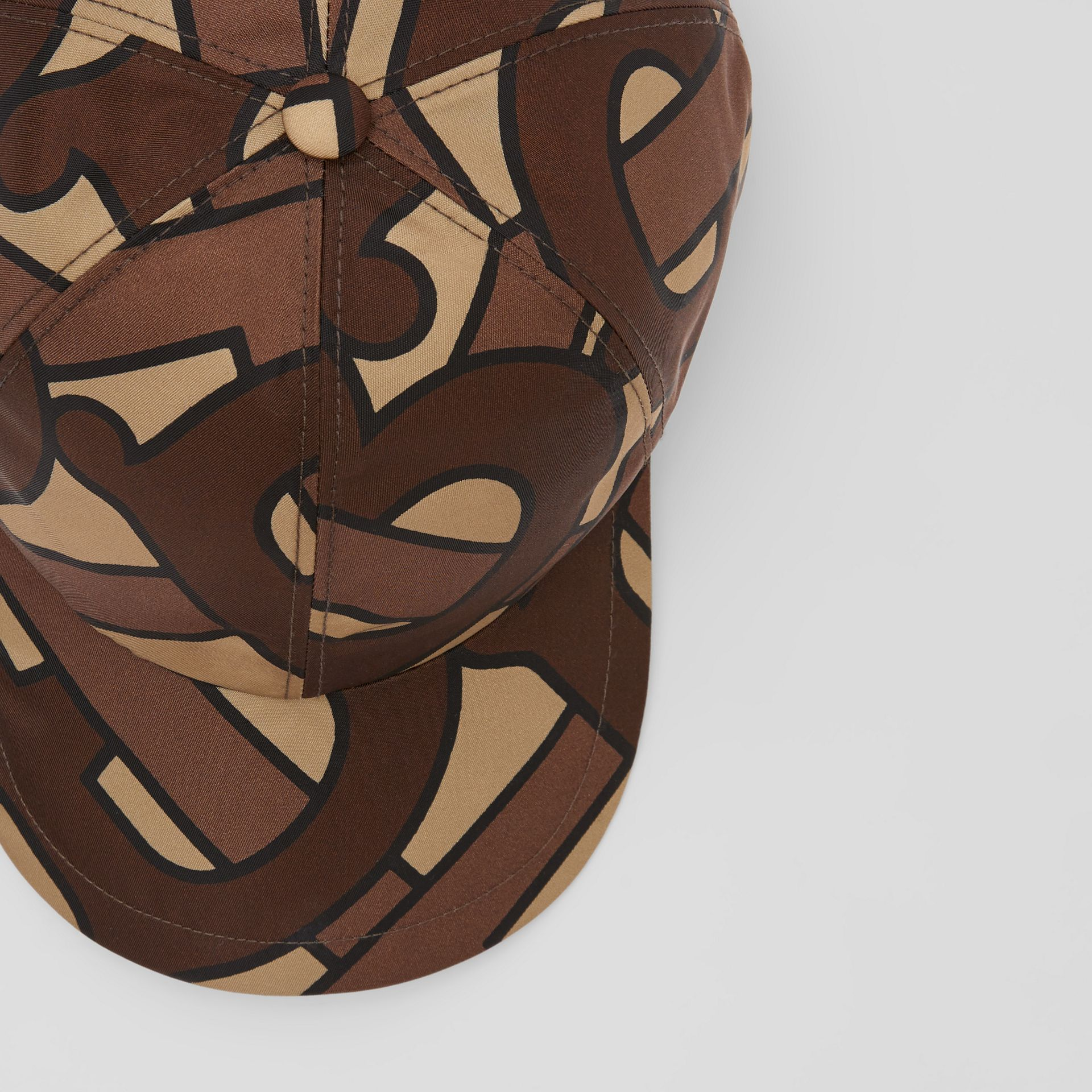 Monogram Print Baseball Cap in Bridle Brown | Burberry United Kingdom - gallery image 1