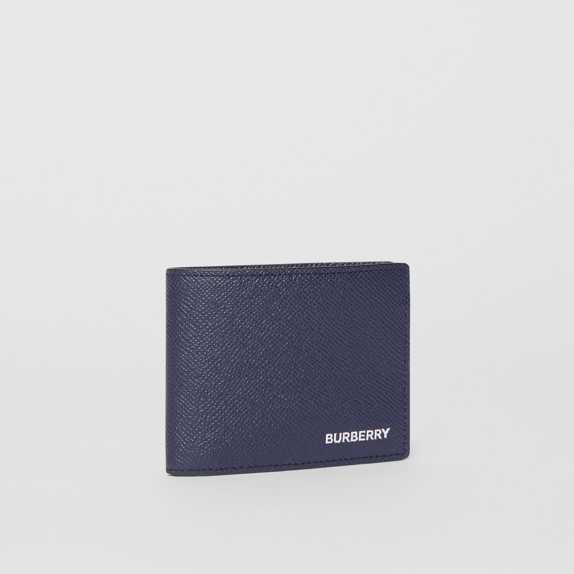 Grainy Leather Bifold Wallet in Regency Blue - Men | Burberry United States - gallery image 2