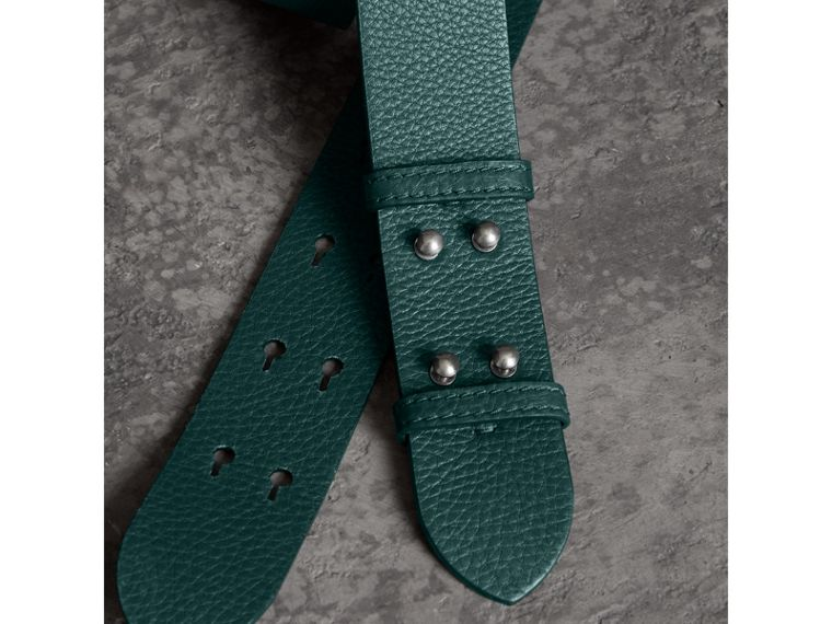 The Medium Belt Bag Grainy Leather Belt in Sea Green - Women | Burberry - cell image 1