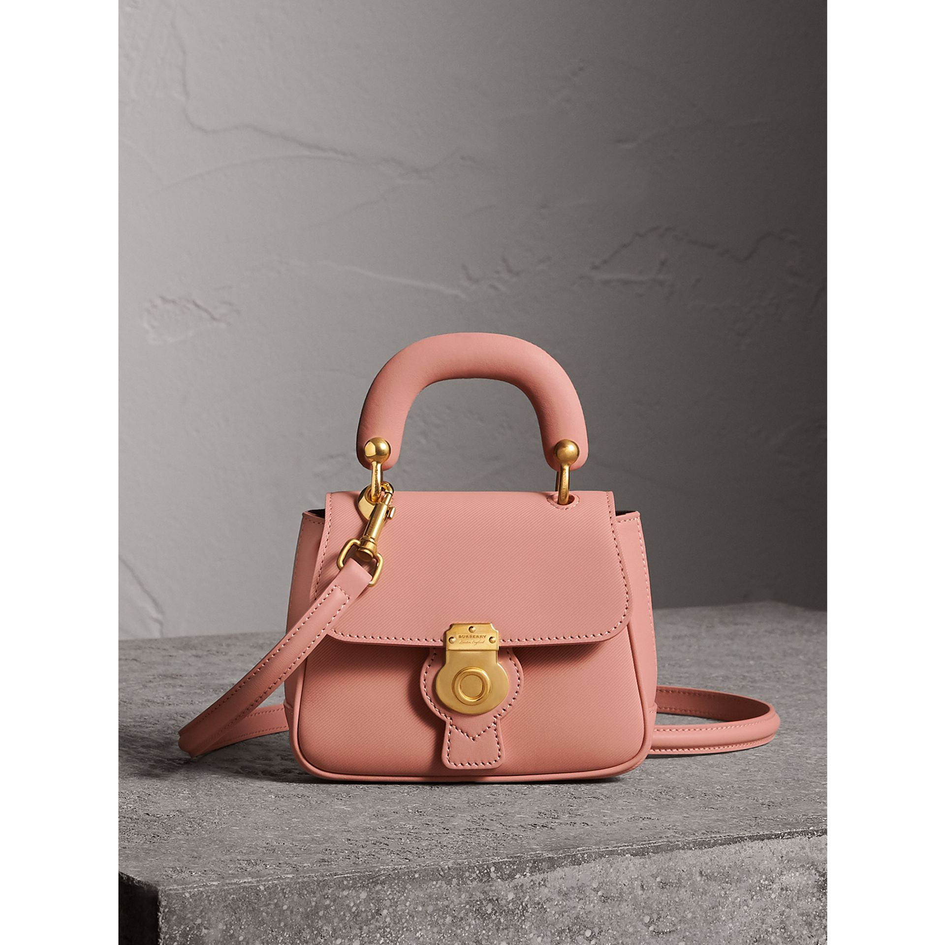 The Mini DK88 Top Handle Bag in Ash Rose - Women | Burberry United Kingdom - gallery image 0