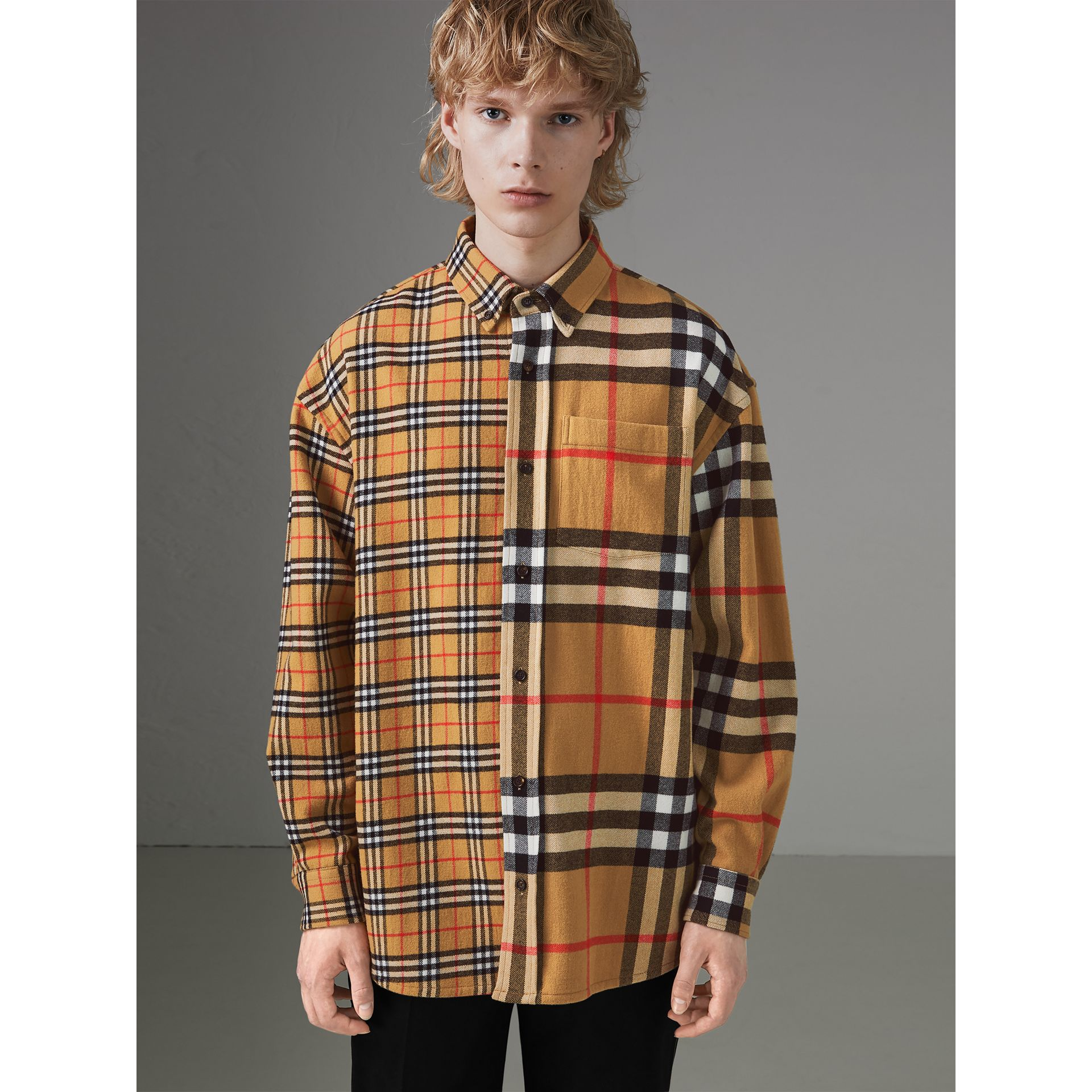 61b327f57 Burberry Gosha x Burberry Check Flannel Shirt at £390