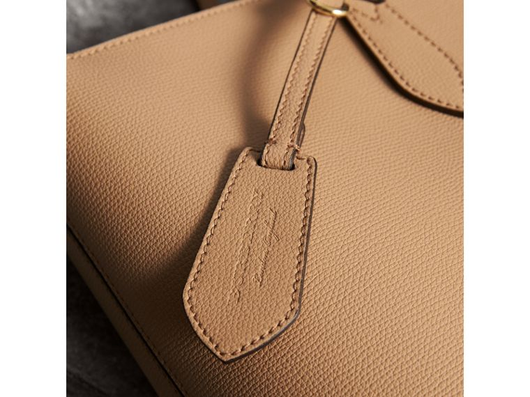 Medium Coated Leather Tote in Mid Camel - Women | Burberry - cell image 1