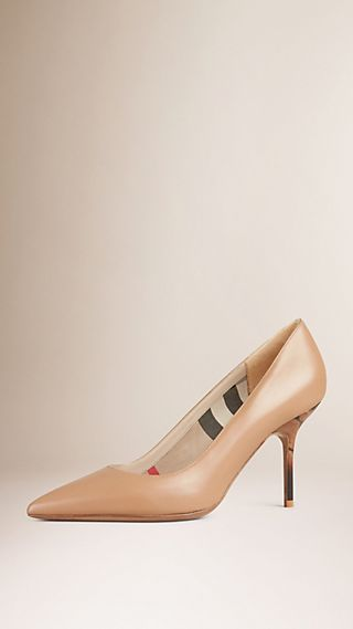 Hand-painted Point-toe Leather Pumps