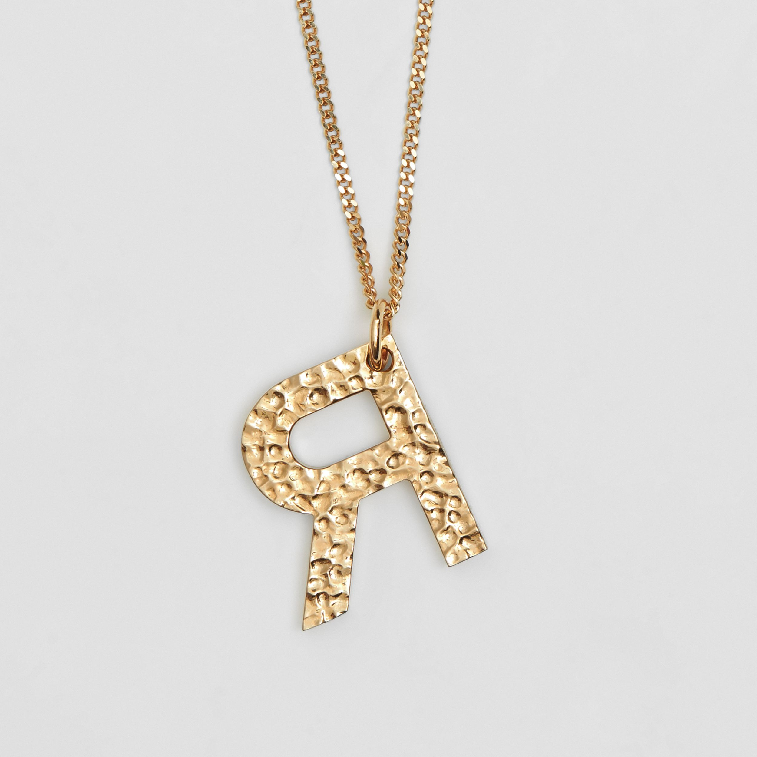 'R' Alphabet Charm Gold-plated Necklace in Light - Women | Burberry - 4