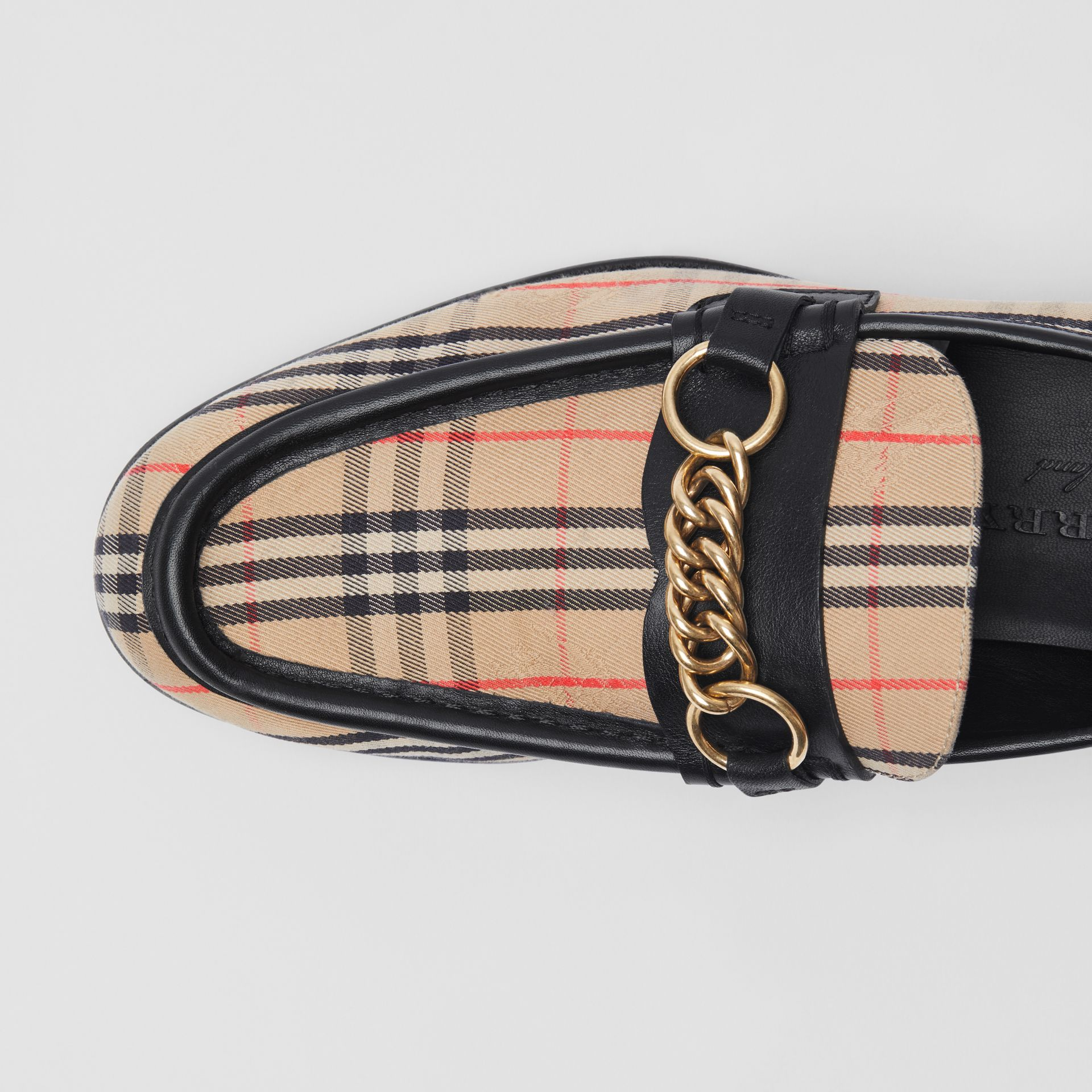 The 1983 Check Link Loafer in Black - Women | Burberry United States - gallery image 1