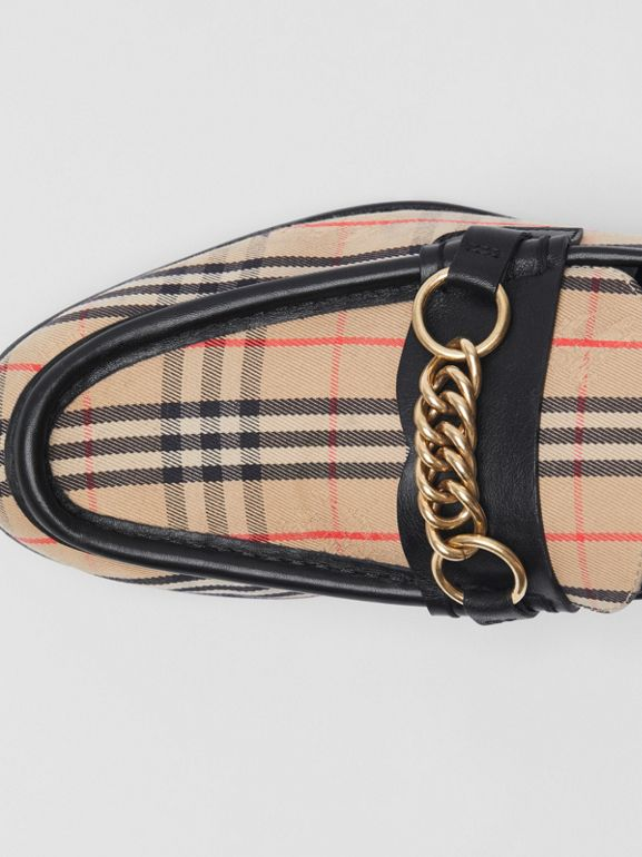 The 1983 Check Link Loafer in Black - Women | Burberry - cell image 1