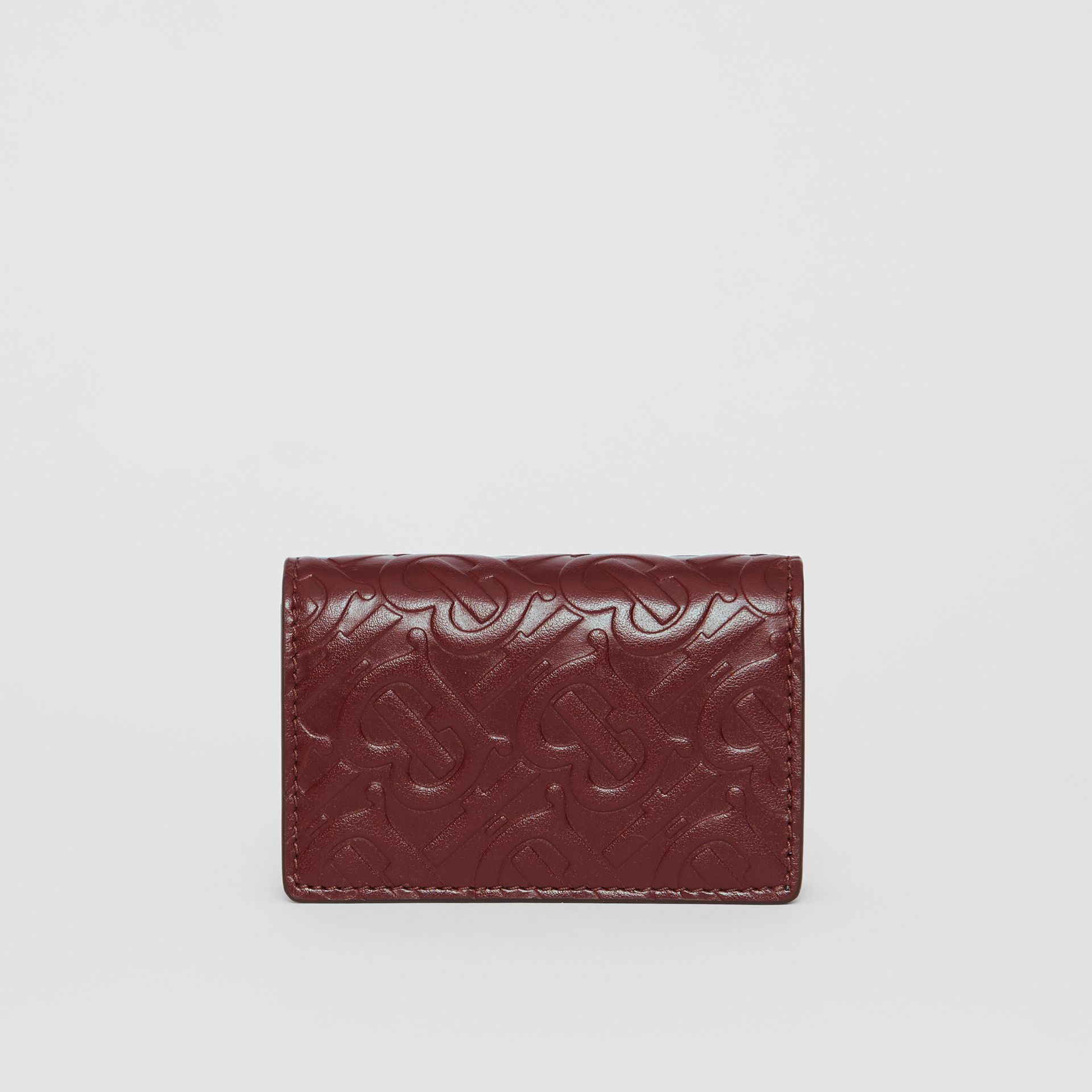 Porte-cartes en cuir Monogram (Oxblood) | Burberry - photo de la galerie 4