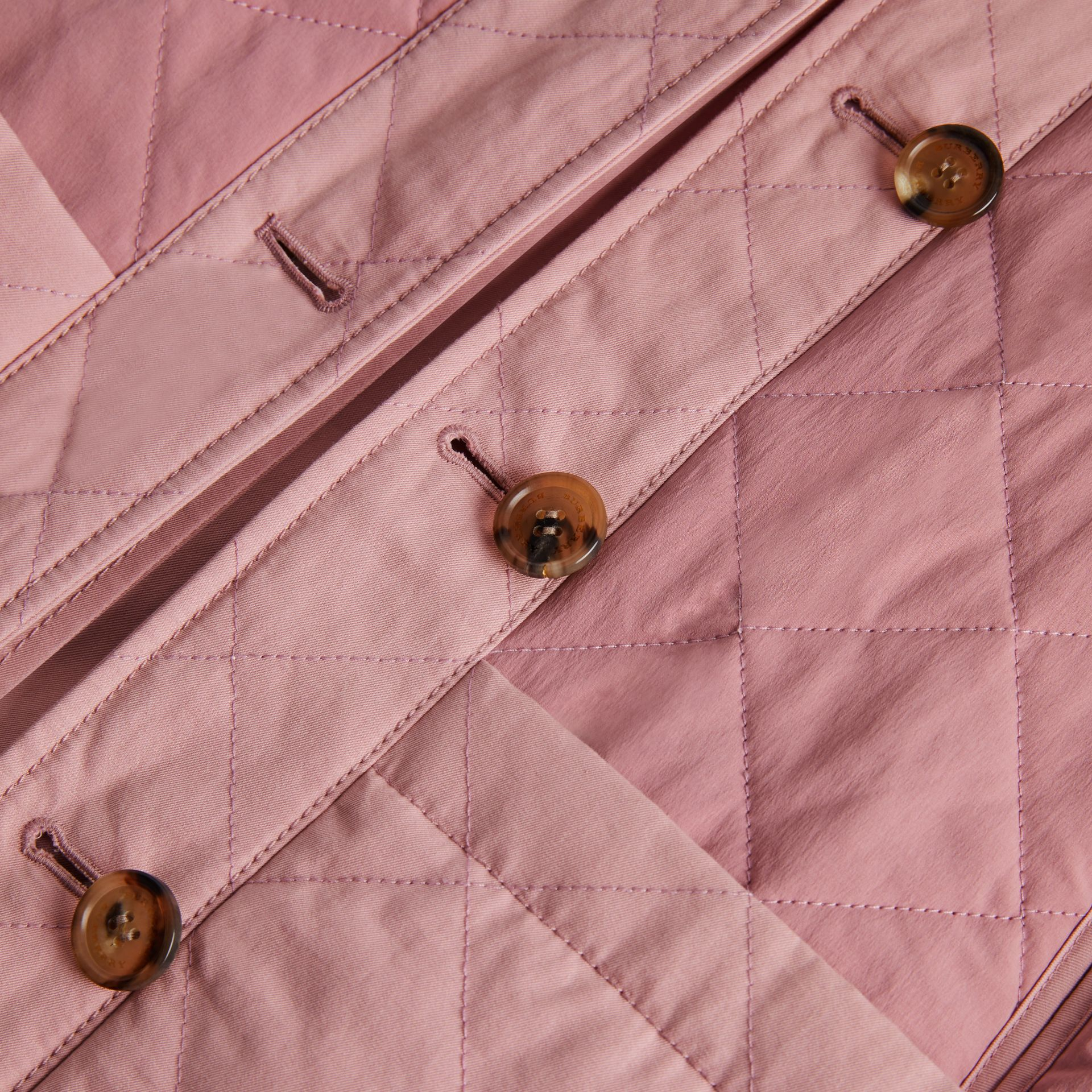 Reversible Tropical Gabardine Car Coat in Chalk Pink | Burberry Canada - gallery image 1