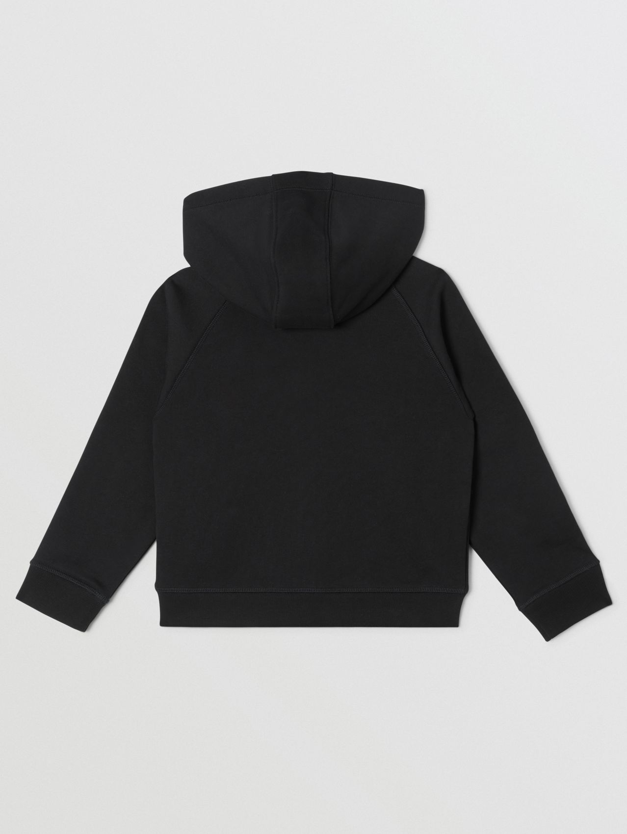 Logo Tape Cotton Hooded Top (Black)