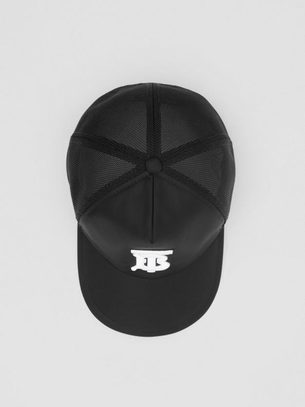 Monogram Motif Baseball Cap in Black