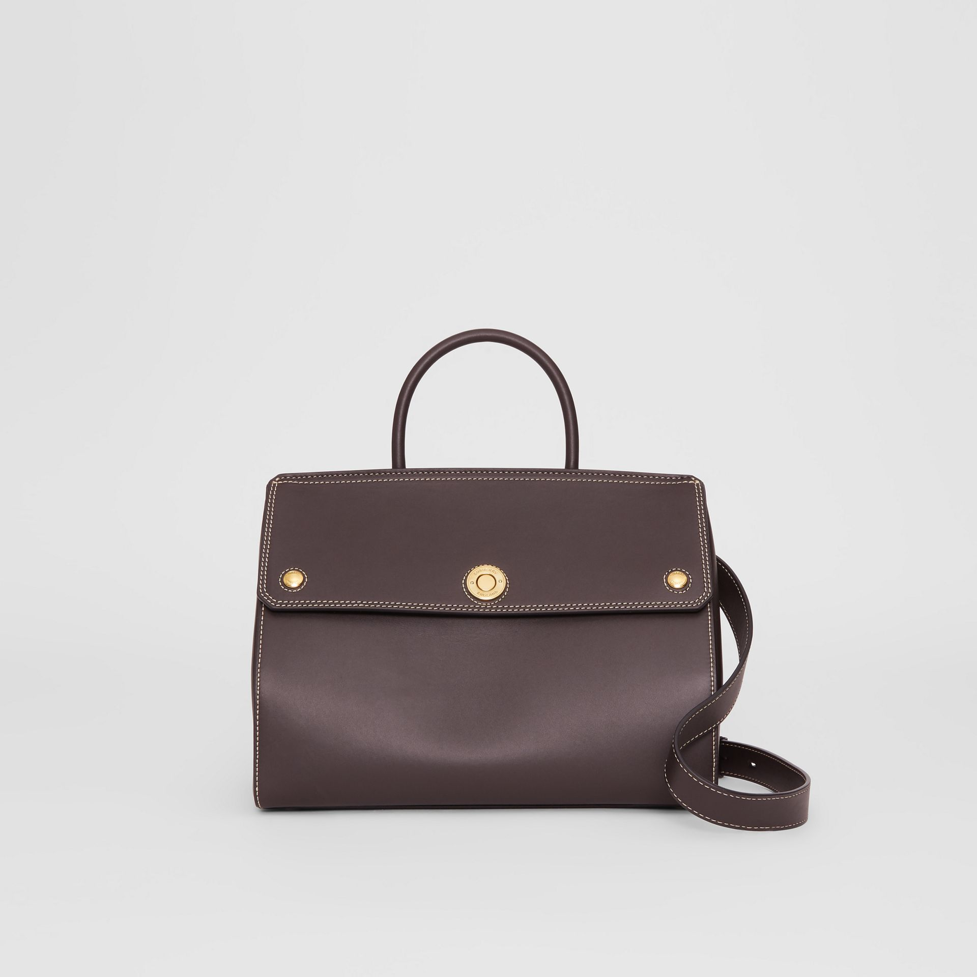Small Leather Elizabeth Bag in Coffee - Women | Burberry - gallery image 0