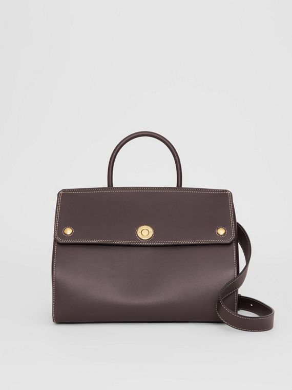 Small Leather Elizabeth Bag in Coffee