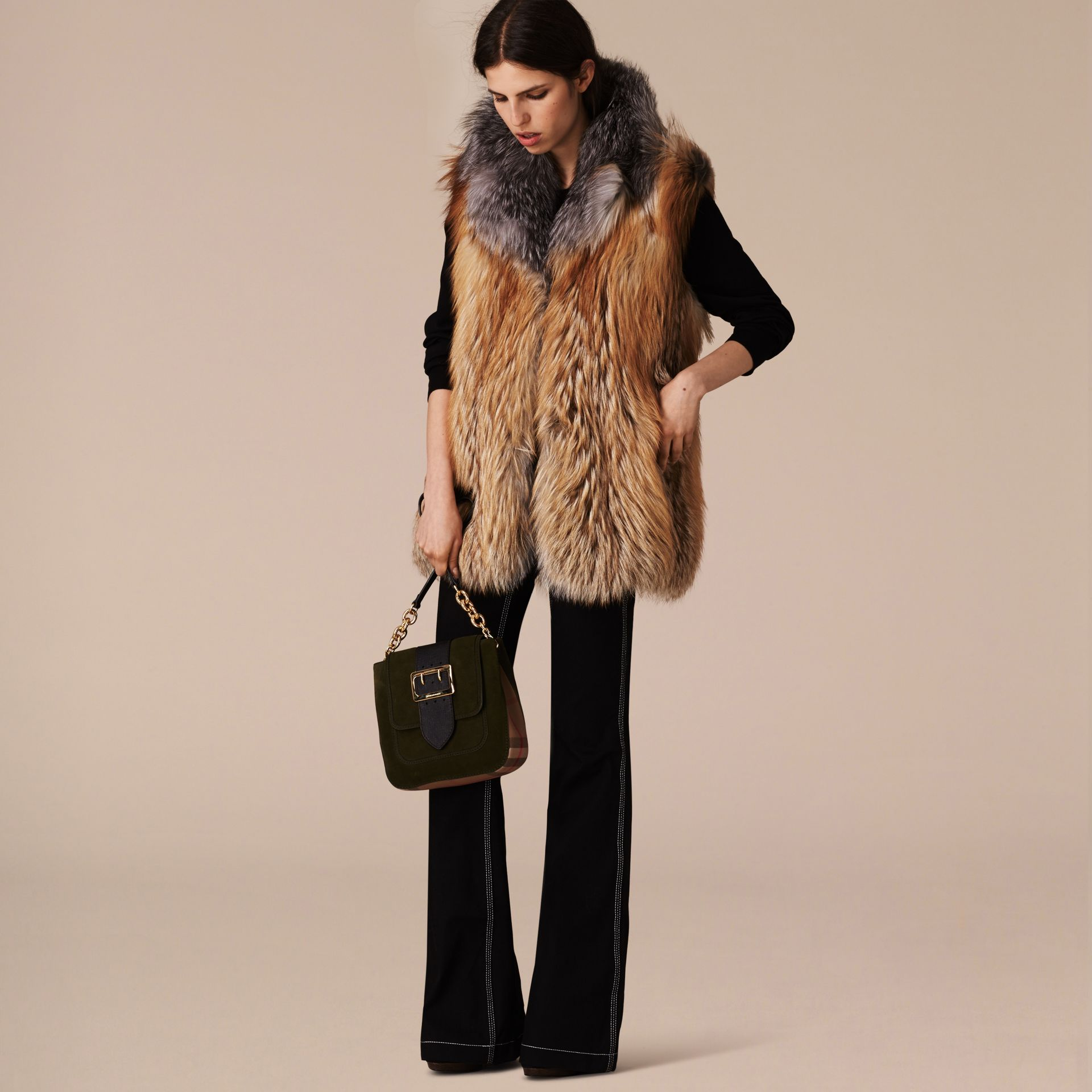 Bright toffee Fox Fur Gilet - gallery image 6