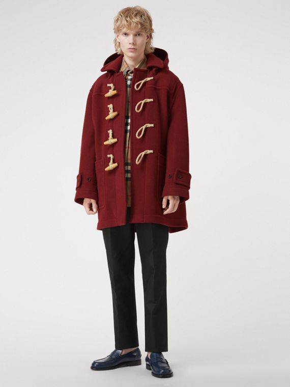 Gosha x Burberry Oversized Duffle Coat in Claret