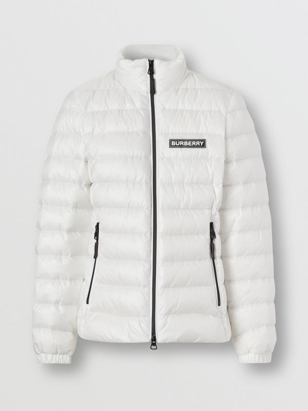 Logo Print Lightweight Puffer Jacket in White - Women | Burberry Australia - cell image 3