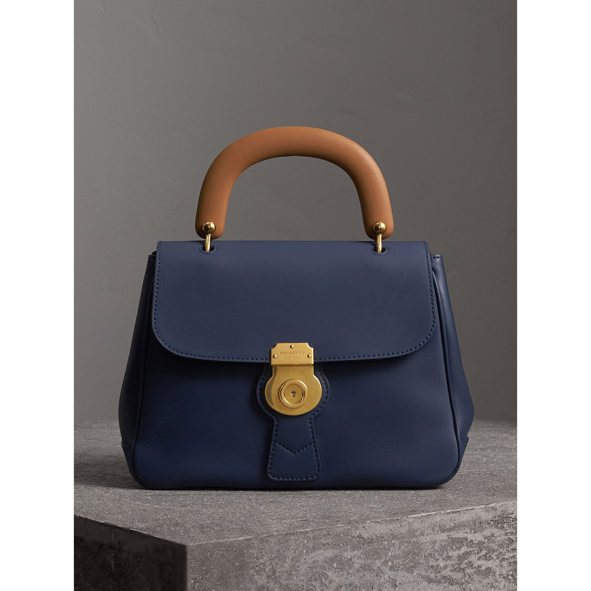 The Medium DK88 Top Handle Bag in Ink Blue - Women | Burberry United Kingdom - gallery image 0