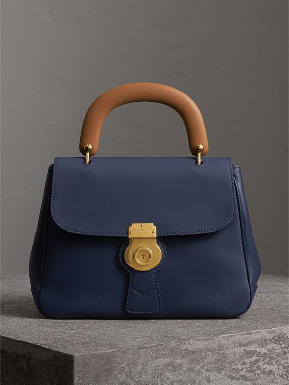 The Medium DK88 Top Handle Bag in Ink Blue