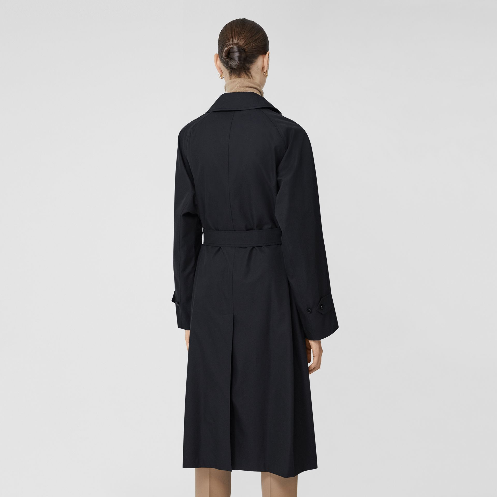 Tropical Gabardine Belted Car Coat in Midnight - Women | Burberry - gallery image 2