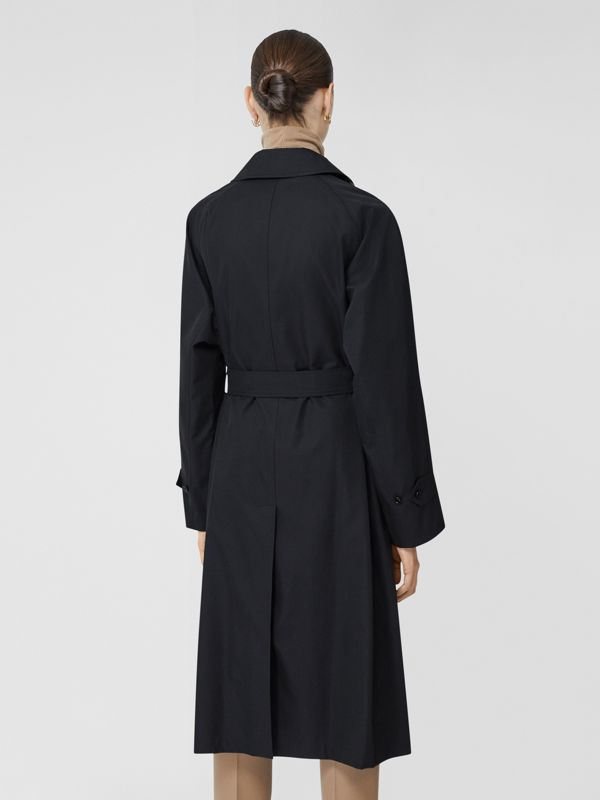 Tropical Gabardine Belted Car Coat in Midnight - Women   Burberry - cell image 2