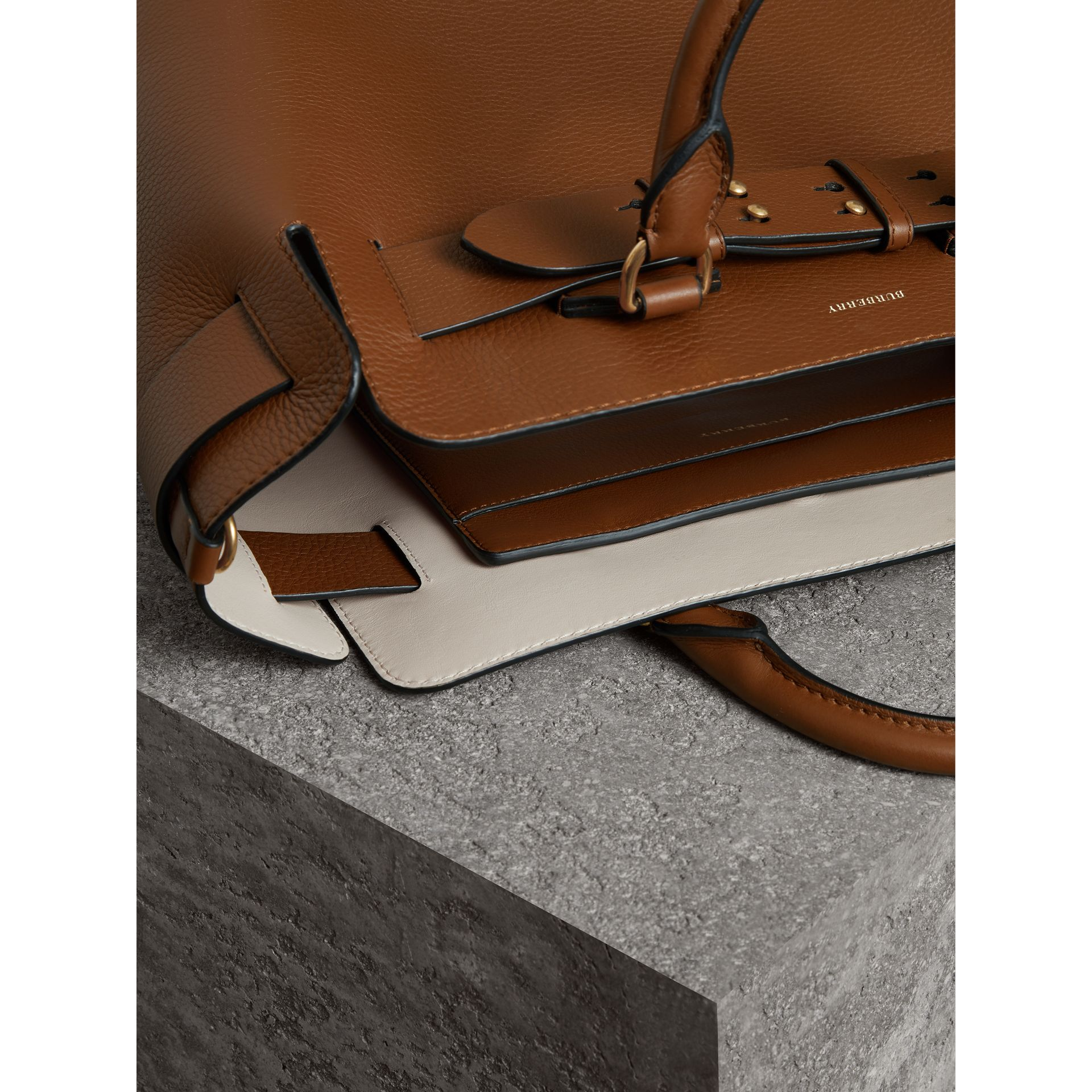 The Medium Leather Belt Bag in Tan - Women | Burberry Singapore - gallery image 5