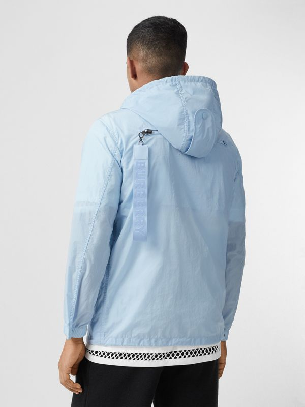 Packaway Lightweight Hooded Jacket in Pale Blue - Men | Burberry - cell image 2