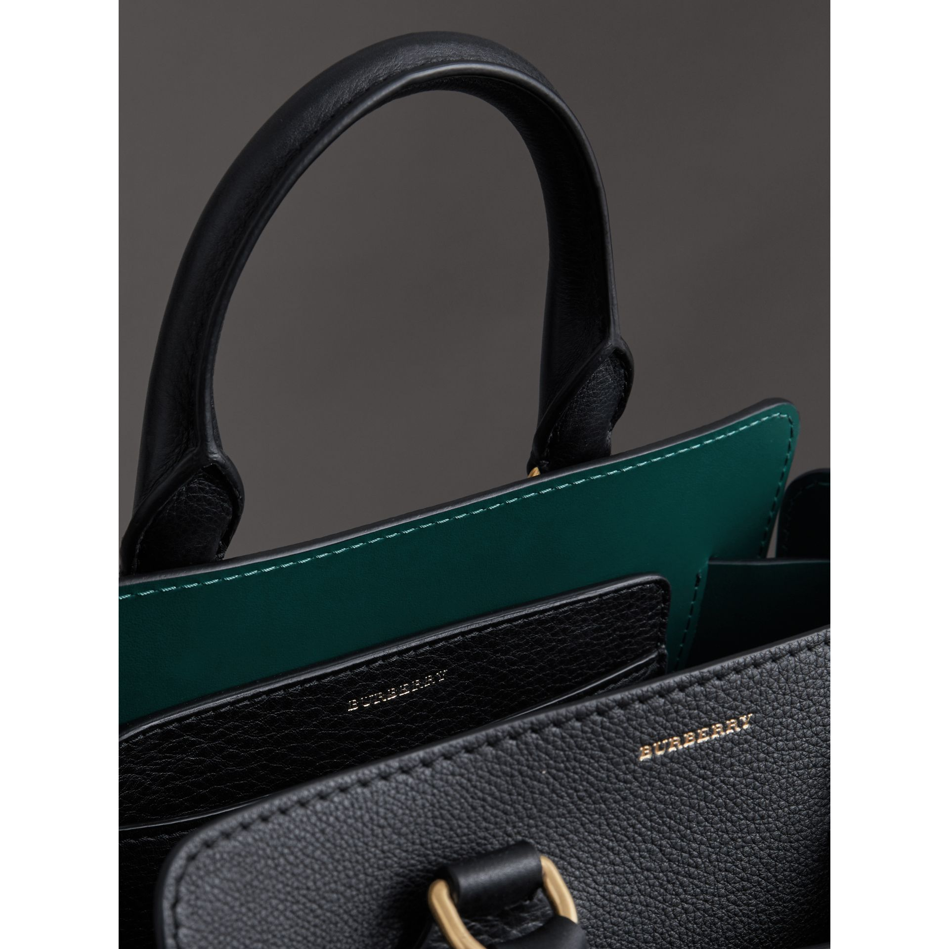The Small Leather Belt Bag in Black - Women | Burberry - gallery image 5