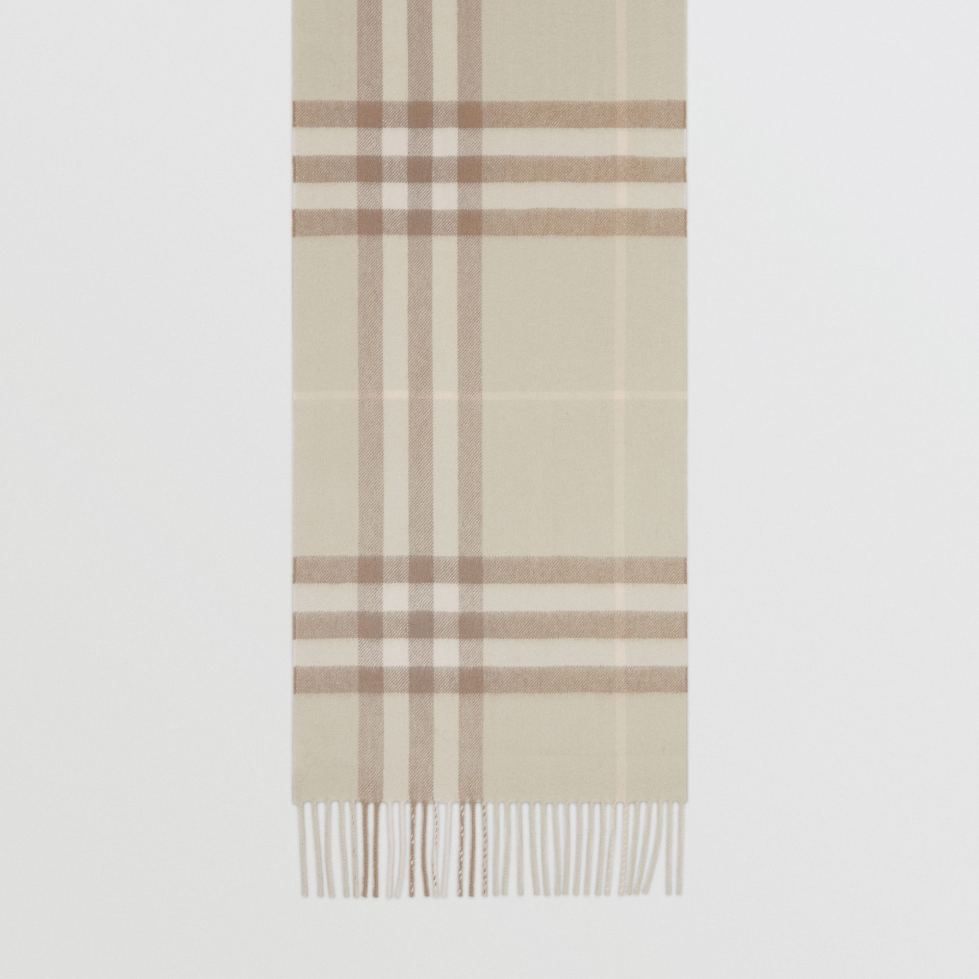 The Classic Check Cashmere Scarf in Green | Burberry - gallery image 3