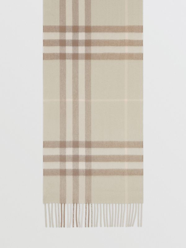 The Classic Check Cashmere Scarf in Green | Burberry - cell image 3
