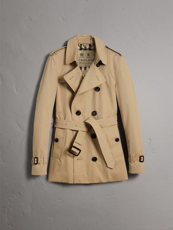 The Sandringham – Short Trench Coat in Honey - Men | Burberry - cell image 3